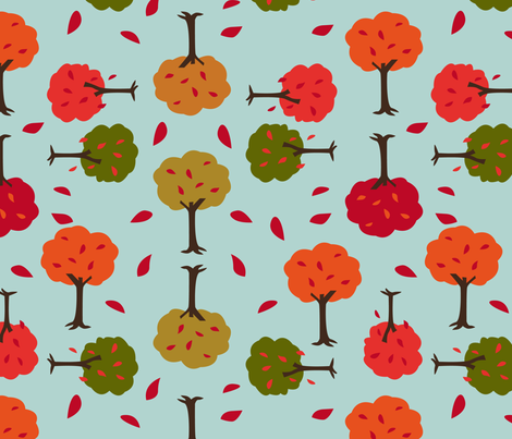 eulen&lerchen_autumn fabric by eulen&lerchen on Spoonflower - custom fabric