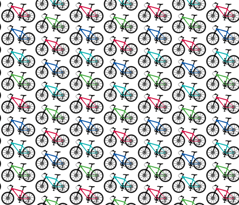 Mountain Bike multi fabric by andibird on Spoonflower - custom fabric