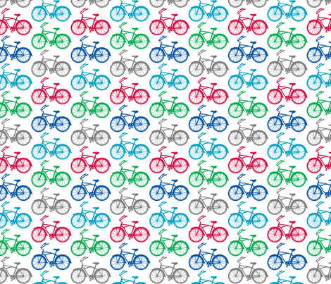 Cruiser Bicycle - multi fabric by andibird on Spoonflower - custom fabric