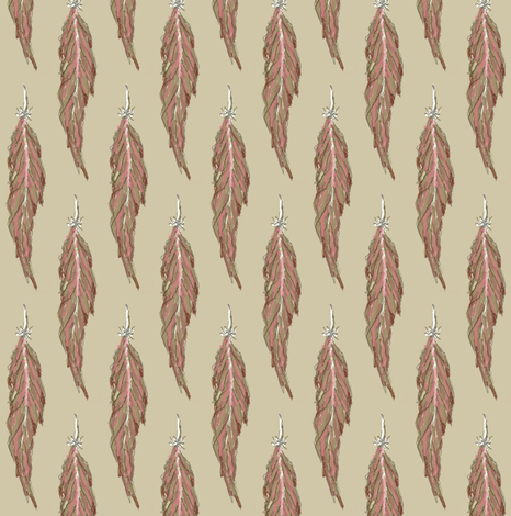 feather salmon fabric by paragonstudios on Spoonflower - custom fabric