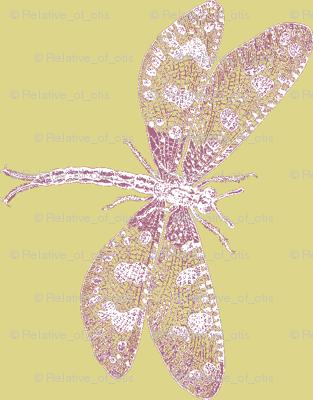 Snow Dragonfly (ochre/maroon)