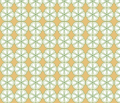 Flowers on Orange fabric by chris_jorge on Spoonflower - custom fabric