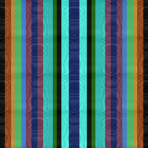 Peacock Striped Moire