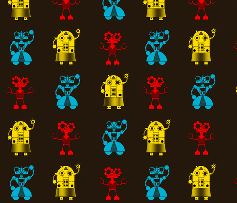 bots1 fabric by monkeyminion on Spoonflower - custom fabric