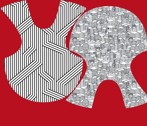 Urban Bib Kit fabric by leighr on Spoonflower - custom fabric