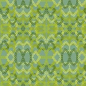 green drop retro mosaic