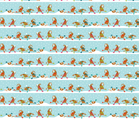 SteffFabrics Snow Bunnies fabric by steffstyle on Spoonflower - custom fabric