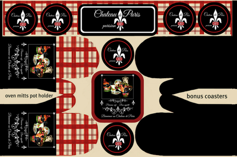 parisiancafe oven mitts  fabric by paragonstudios on Spoonflower - custom fabric