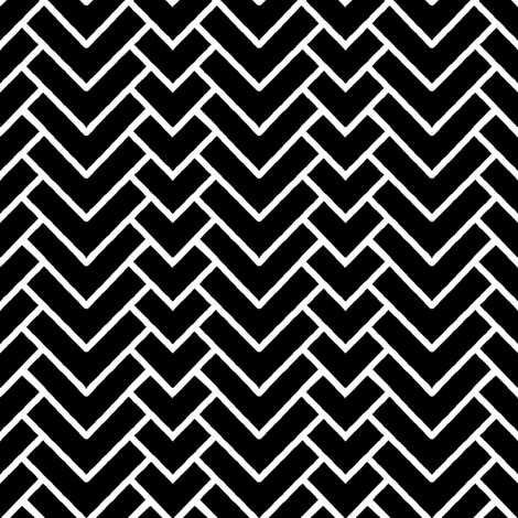 Herringbone Chevron in Black fabric by pond_ripple on Spoonflower - custom fabric