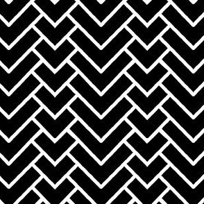 Herringbone Chevron in Black