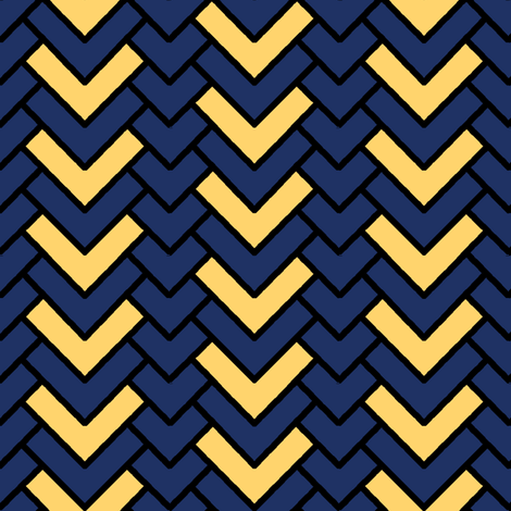 Chevron in Navy fabric by pond_ripple on Spoonflower - custom fabric