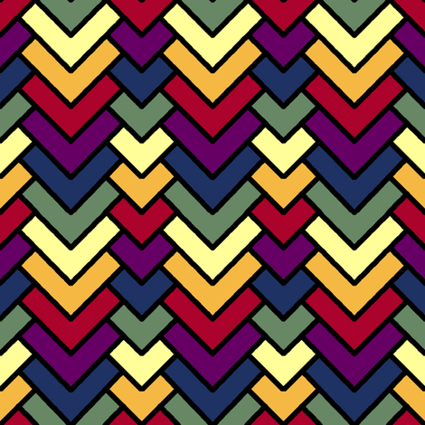 Chevron Rainbow fabric by pond_ripple on Spoonflower - custom fabric