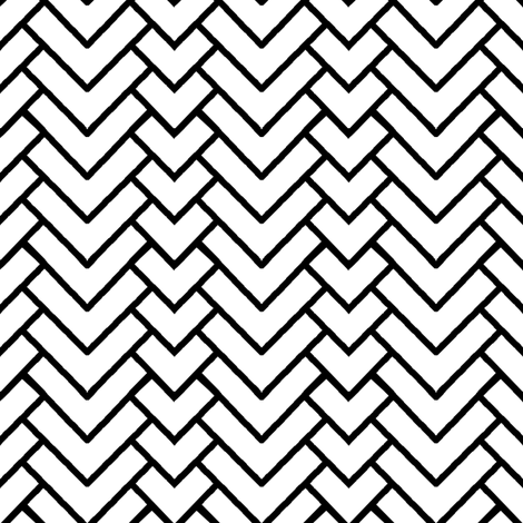 Chevron in White fabric by pond_ripple on Spoonflower - custom fabric