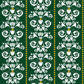 Jingle Bell Damask - Green