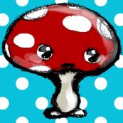 Bigger red mushroom