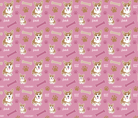 Corgi Girls fabric by dianef on Spoonflower - custom fabric