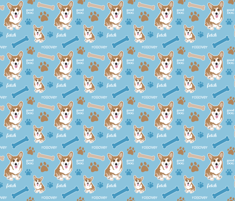 Corgi Boy fabric by dianef on Spoonflower - custom fabric