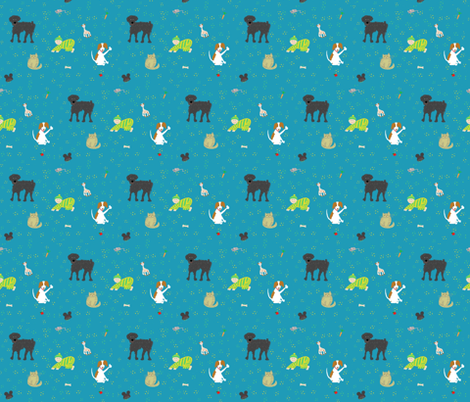 Nicholas and friends fabric by amacordamy on Spoonflower - custom fabric