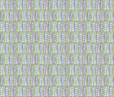 Gelati registers on lime, small fabric by su_g on Spoonflower - custom fabric