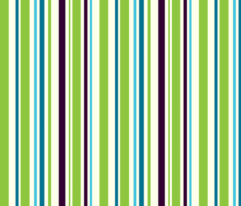 lime blue navy stripe fabric by pinkbrain on Spoonflower - custom fabric