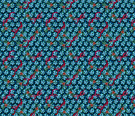 Christmas Blue Bells fabric by glimmericks on Spoonflower - custom fabric
