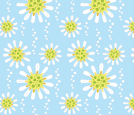 Daisy fabric by roarin_betty on Spoonflower - custom fabric