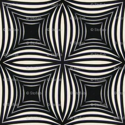 Vintage Black & White Stars