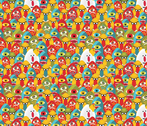 Eggs monster. fabric by panova on Spoonflower - custom fabric