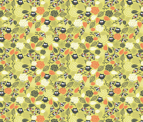 Cute owls. fabric by panova on Spoonflower - custom fabric