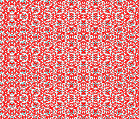 Chesna_orange_turquoise fabric by callycreates on Spoonflower - custom fabric