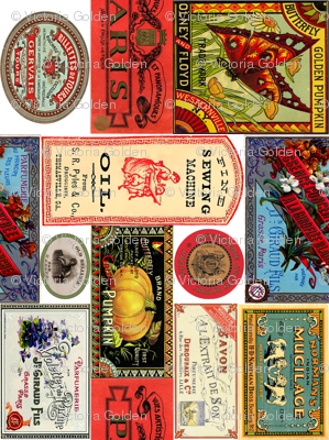 Vintage Labels (Brights)