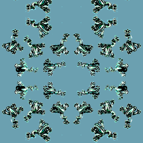 teal_frogs fabric by vinkeli on Spoonflower - custom fabric