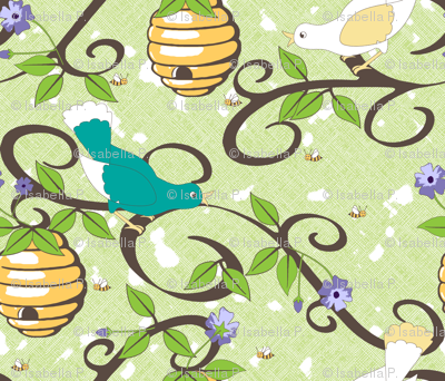 All About the Birds and the Bees in Spring - Green