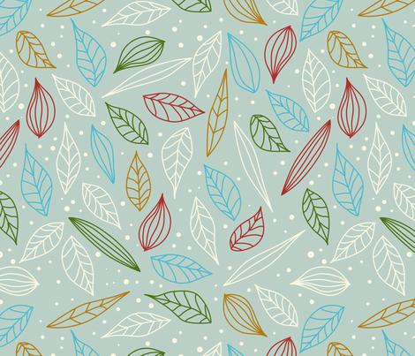 eulen&lerchen_leave#1 fabric by eulen&lerchen on Spoonflower - custom fabric