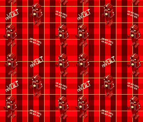 Robot revolt Plaid fabric by monkeyminion on Spoonflower - custom fabric