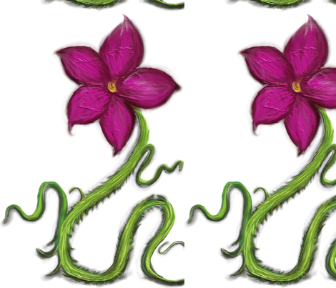 snake_flower fabric by corazon on Spoonflower - custom fabric
