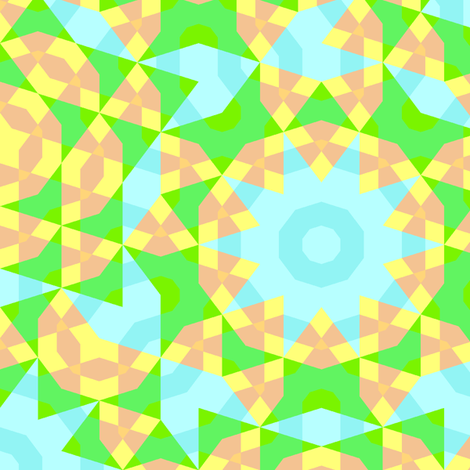 Pentrows_Green fabric by staroid on Spoonflower - custom fabric