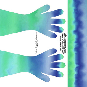 BlueGreen waves gloves