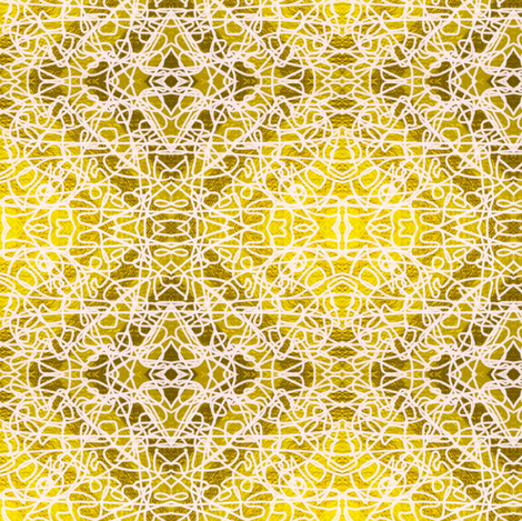 Random rope on gold foil, large by Su_G fabric by su_g on Spoonflower - custom fabric