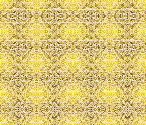 Random rope on gold foil, large fabric by su_g on Spoonflower - custom fabric