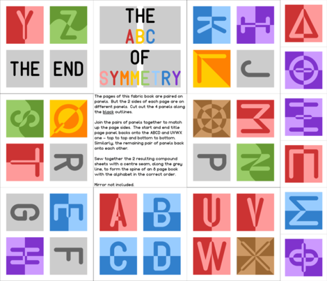 The ABC of Symmetry fabric by sef on Spoonflower - custom fabric