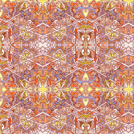 The Warmth of Orange fabric by edsel2084 on Spoonflower - custom fabric
