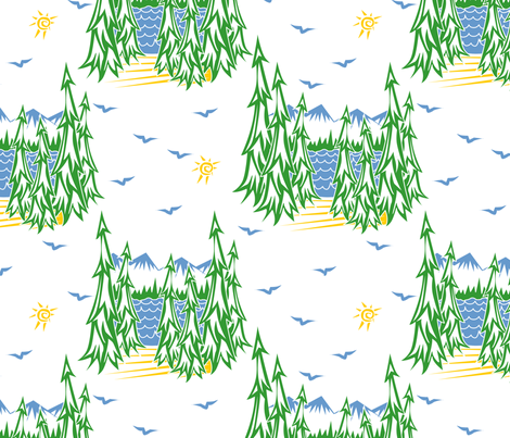 Smell that fresh mountain air! fabric by glimmericks on Spoonflower - custom fabric