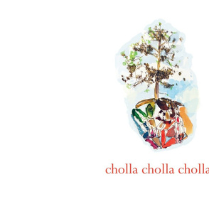 cholla cholla tea towel