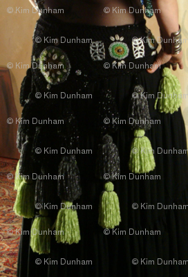 Green Tassel Belt Circles