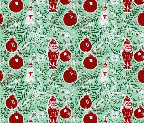 How Evergreen Your Branches fabric by fabricfarmer_by_jill_bull on Spoonflower - custom fabric