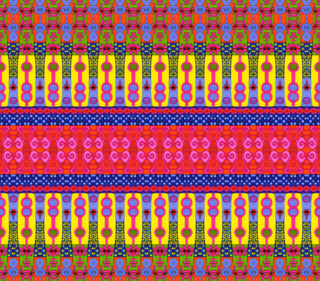 Crazy Bands fabric by joonmoon on Spoonflower - custom fabric