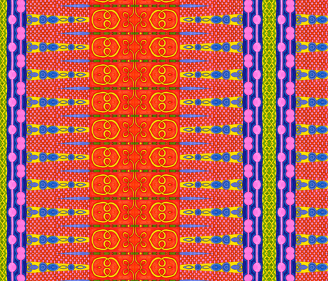Patchwork Orange fabric by joonmoon on Spoonflower - custom fabric
