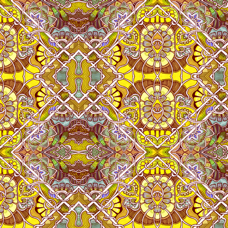 Tilted Tile Victorian Sunshine fabric by edsel2084 on Spoonflower - custom fabric