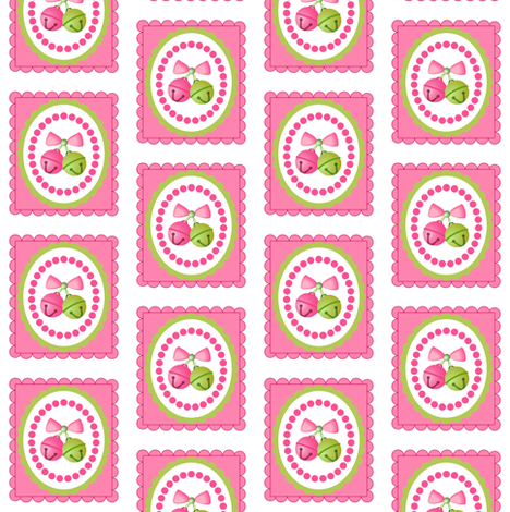 Jingle Jingle (pink) fabric by seedlingspatterns on Spoonflower - custom fabric